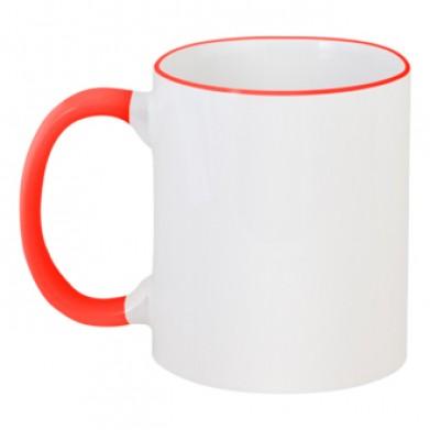 Колір Червоний, Чашки двокольорові 06923 - Moda Print