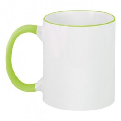 Цвет Зеленый, Чашки двухцветные 06923 - Moda Print