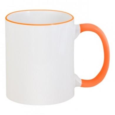 Цвет Оранжевый, Чашки двухцветные 06923 - Moda Print