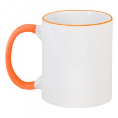 Колір Оранжевий, Чашки двокольорові 06923 - Moda Print