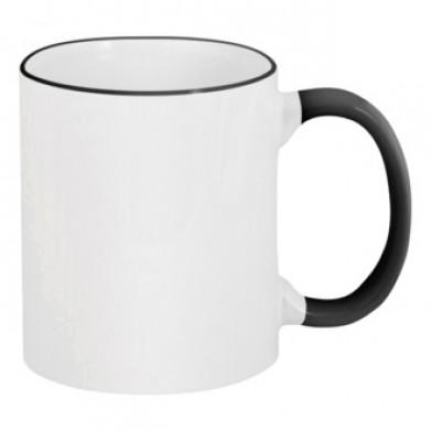 Цвет Черный, Чашки двухцветные 06923 - Moda Print