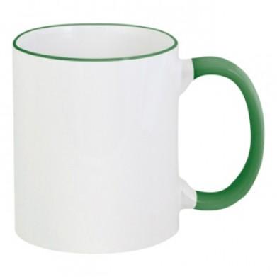 Цвет Темно-зеленый, Чашки двухцветные 06923 - Moda Print