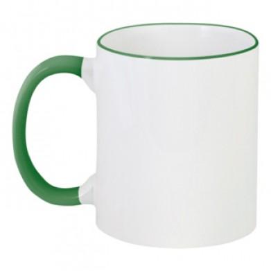 Колір Темно-зеленый, Чашки двокольорові 06923 - Moda Print