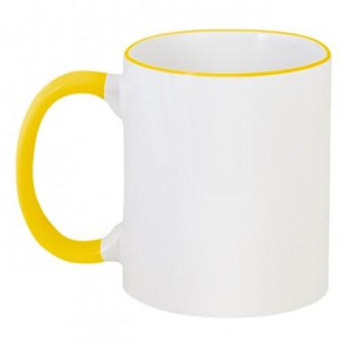 Цвет Желтый, Чашки двухцветные 06923 - Moda Print