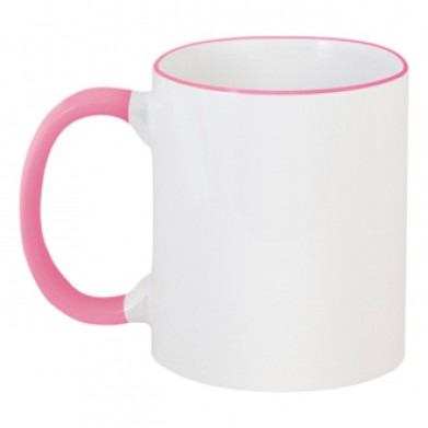 Цвет Розовый, Чашки двухцветные 06923 - Moda Print