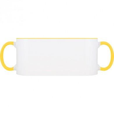 Колір Жовтий, Чашки (Свій принт) двокольорові 06923 - Moda Print