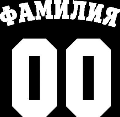 Принт Мужская футболка с фамилией и номером - Moda Print