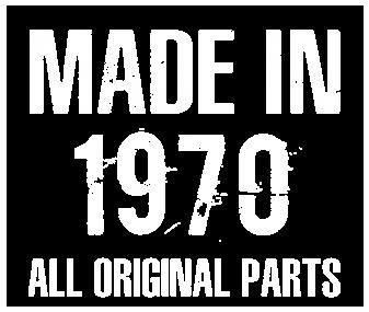Принт Футболка женская Made in 1970 - Moda Print