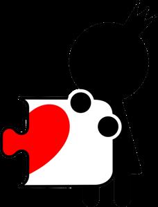 Принт Кружка пазлик с сердечком ж - Moda Print