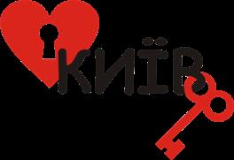 Принт Чашка двухцветная Я люблю Киев (Сердце с ключиком) - Moda Print