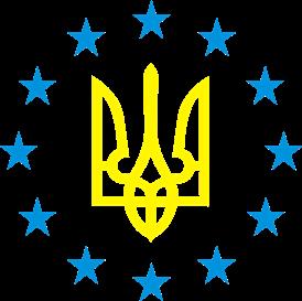 Принт Мужская футболка Герб Украины, звездочки вокруг - Moda Print