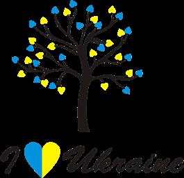 Принт Кружка двухцветная I LOVE UKRAINE - Moda Print