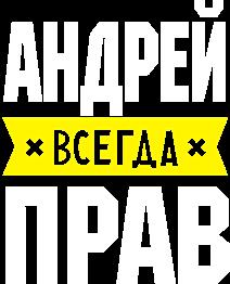 Принт Футболка чоловіча Андрій завжди правий - Moda Print