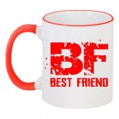 Чашка двухцветная Best friend - Moda Print