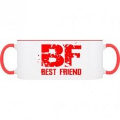 Кружка двухцветная Best friend - Moda Print