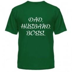 Мужская футболка Dad. Нusband. Boss