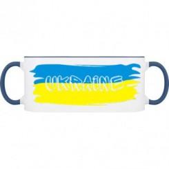 Кружка двухцветная Флаг Украины