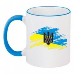 Чашка двокольорова ГЕРБ З ПРАПОРОМ - Moda Print
