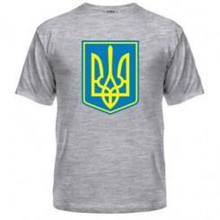 Мужская футболка Герб Украины с фоном - Moda Print