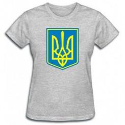 Футболка жіноча Герб України з фоном - Moda Print