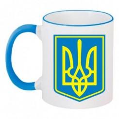 Чашка двухцветная Герб Украины с фоном - Moda Print