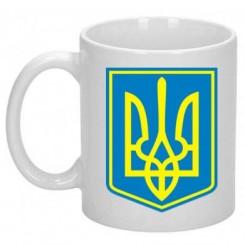 Кружка Герб Украины с фоном - Moda Print