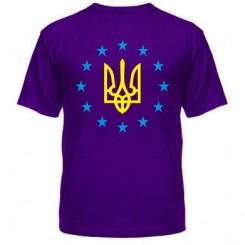 Мужская футболка Герб Украины, звездочки вокруг - Moda Print