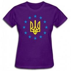 Футболка женская Герб Украины, звездочки вокруг - Moda Print