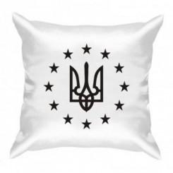 Подушка Герб Украины, звездочки вокруг - Moda Print