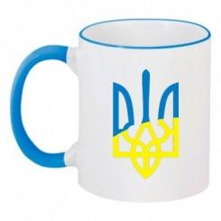 Чашка двухцветная с Гербом Украины - Moda Print