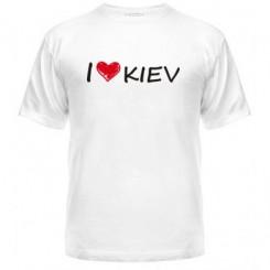 Мужская футболка i love kiev - Moda Print