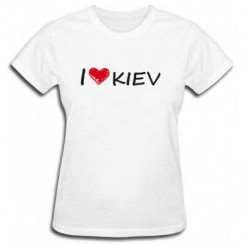 Футболка женская i love kiev - Moda Print