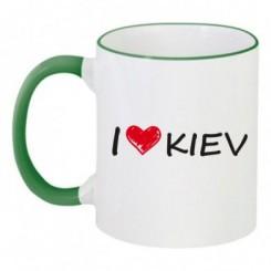 Чашка двухцветная i love kiev