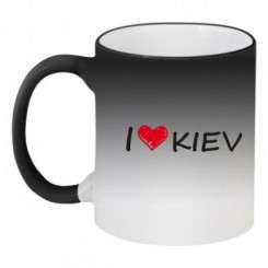 Кружка-хамелеон i love kiev - Moda Print