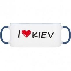 Кружка двухцветная i love kiev - Moda Print