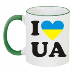Чашка двухцветная I LOVE UA - Moda Print