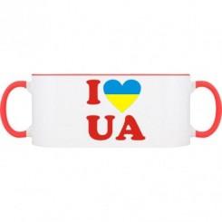Кружка двухцветная I LOVE UA - Moda Print