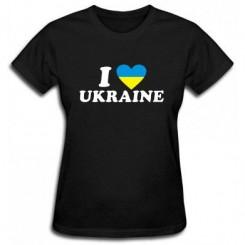 Футболка женская I LOVE UKRAINE 2
