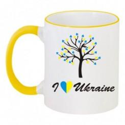 Чашка двокольорова I LOVE UKRAINE - Moda Print