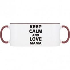 Кружка двухцветная Keep calm and love МАМА