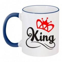 Чашка двухцветная King