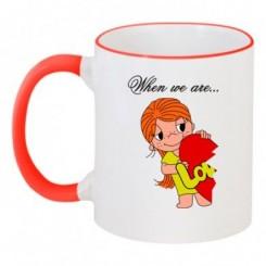 Чашка двухцветная Love is 1 - Moda Print