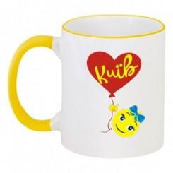Чашка двухцветная Люблю Киев (Смайлик) - Moda Print