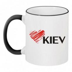 Чашка двухцветная Люблю Киев - Moda Print