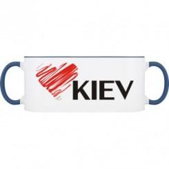 Кружка двухцветная Люблю Киев - Moda Print