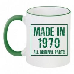 Чашка двухцветная Made in 1970 - Moda Print