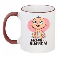 Чашка двухцветная Мамина любимка - Moda Print