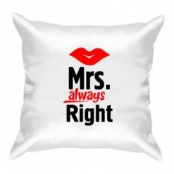 Подушка Mrs. Right - Moda Print