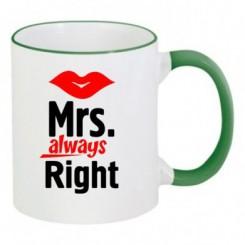 Чашка двухцветная Mrs. Right - Moda Print