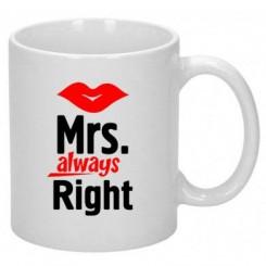 Чашка Mrs. Right - Moda Print